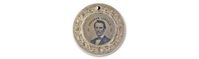 Chapa Política Estados Unidos Abraham Lincoln