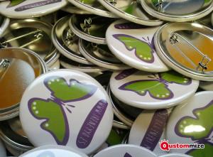 Badges personnalisés avec épingle