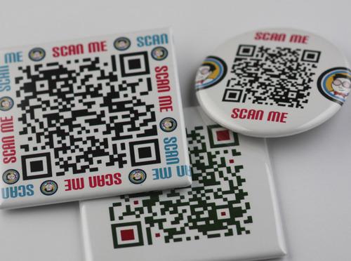 Chapas personalizadas codigo QR | Qustommize Productos personalizados