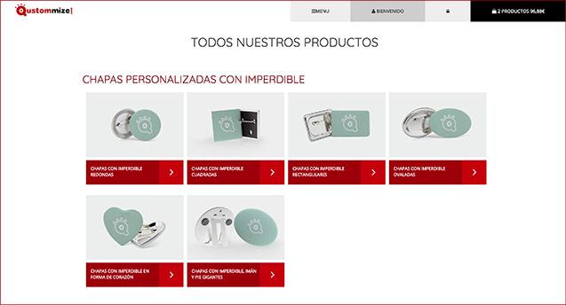 Tu nueva web de productos personalizados