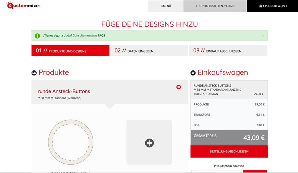 Unbegrenzt viele Designs für individuelle Produkte - Qustommize