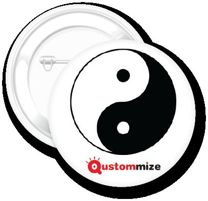 Chapa de yin y yang | Qustommize prodcutos personalizados