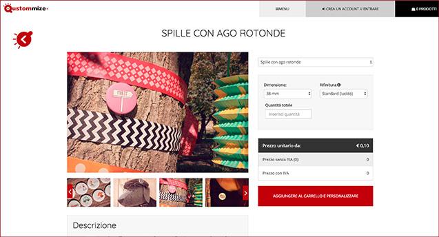 Il tuo nuovo sito di prodotti personalizzati